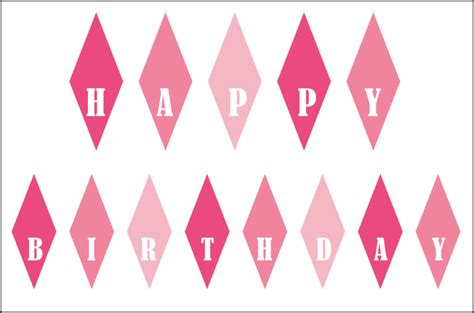 free printable happy birthday banner for cake 6 best images of pink birthday cake banner printable