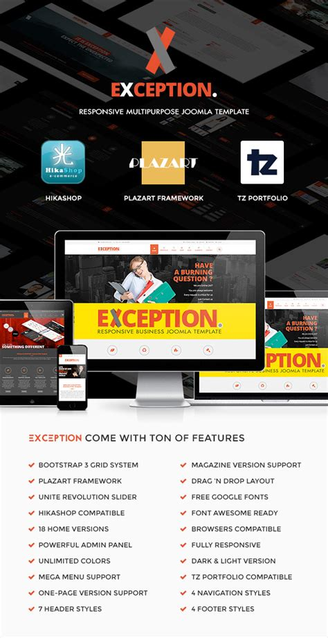 titania multi purpose joomla theme free download exception multi purpose responsive joomla template
