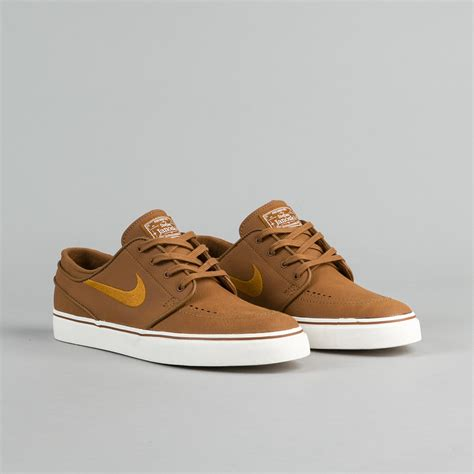 leather nike shoes nike sb stefan janoski leather shoes ale brown desert