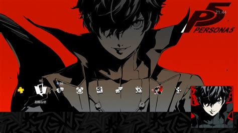 ps4 themes and avatars persona 5 protagonist quot special ps4 theme avatar set