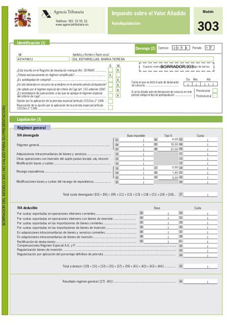 nuevo modelo 303 liquidacion trimestral iva 2015 modelo 303 en la declaraci 243 n trimestral de iva para