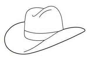 hat outline template best photos of cowboy hat outline template cowboy