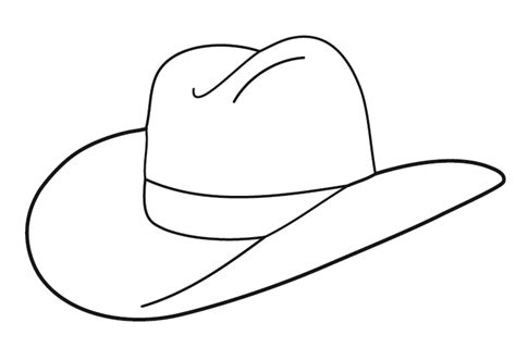 cowboy hat template cowboy hat drawings and clip seivo clipart