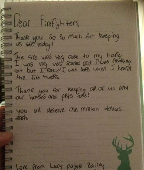 Thank You Letter For Firefighter Kurri Delivers Warming Thank You Note To Firefighters Photos Newcastle Herald