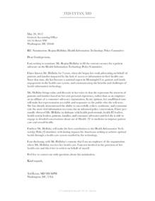 taking care of business at healthfoo nomination letter