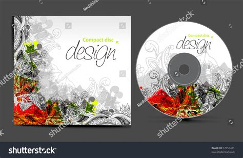 cd jacket design template vector cd cover design template copy stock vector 57053431