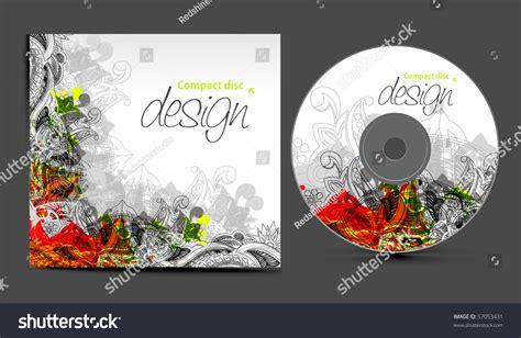vector cd cover design template copy stock vector 57053431
