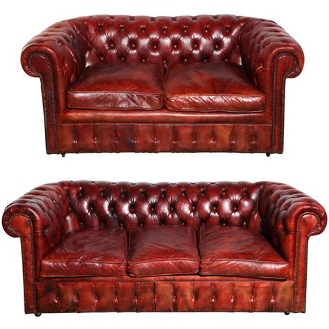 red leather couch and loveseat mahogany red leather chesterfield sleeper sofa and