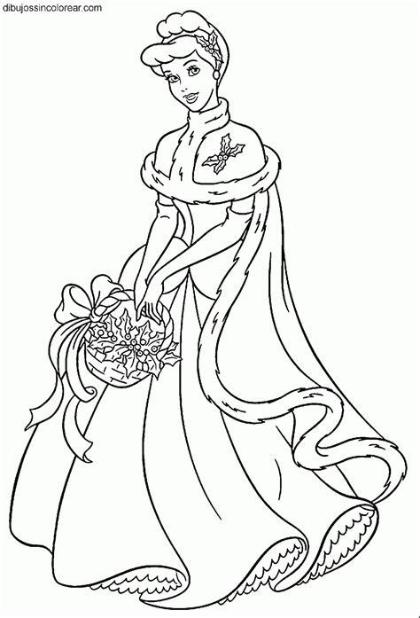 dibujos navideños para colorear disney dibujos de cenicienta princesa disney para colorear