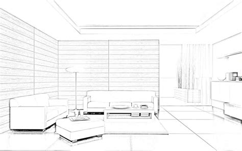 bed easy interior design sketches living room decoration