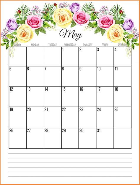 may 2019 calendar printable floral 2019 monthly calendar calendar 2019