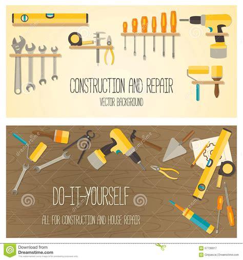 Home Design Web Tool Vector Flat Design Diy And Home Renovation Tools Stock