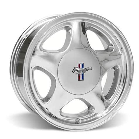 mustang wheel pattern mustang 5 lug pony wheel center cap 17x9 chrome 79 93