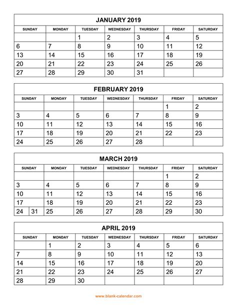 Printable 2018 Calendar Two Months Per Page