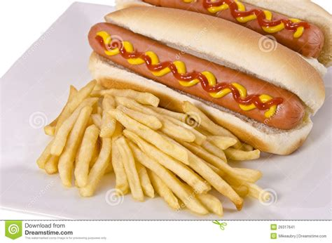 dogs and fries dogs and fries stock image image 26317641