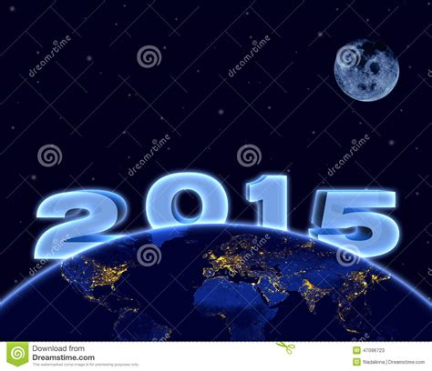 earth new year earth happy new year 2015 stock photo cartoondealer
