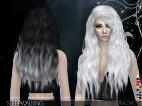 sims 4 custom content hair stealthic sleepwalking female hair