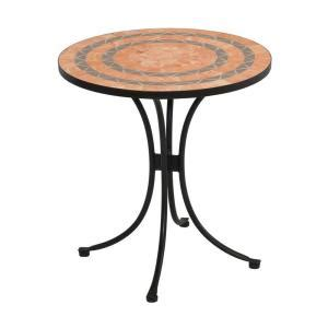 home styles terra cotta 28 in tile top patio bistro table