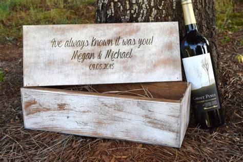 Wedding Box Ceremony by Wedding Ceremony Wine Box Rustic Wedding Wine Box