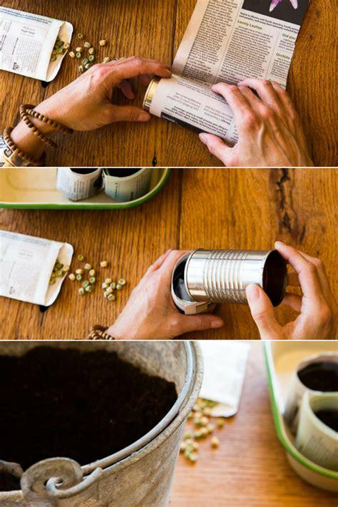 How To Make Paper Pots - how to make paper pots for planting seeds