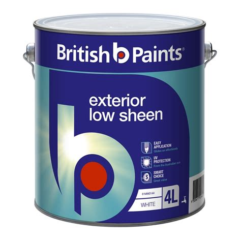 what sheen for exterior paint paints 4l white low sheen exterior paint i n