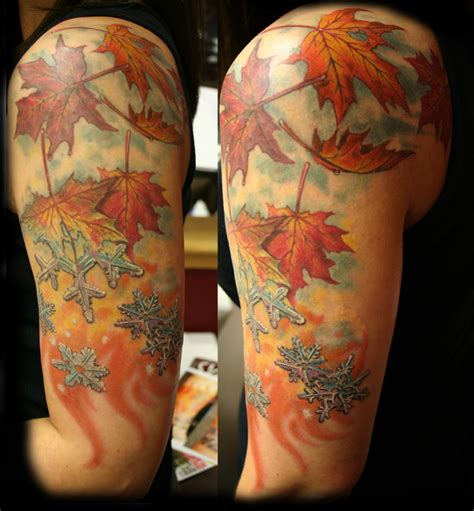 autumn leaf tattoo tree fall leaves random cool interesting