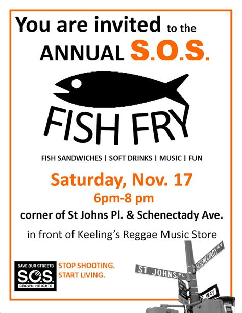 fish fry flyer template crown heights community mediation center s o s fish fry saturday