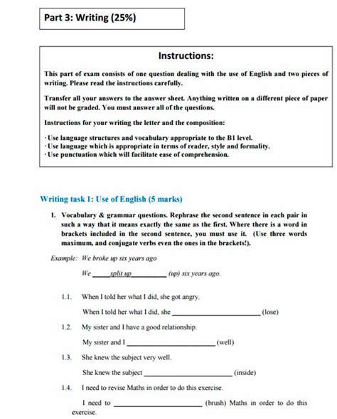 test b1 inglese ejemplo examen b1 de ingl 233 s dreaming california