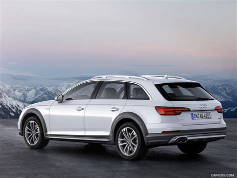 audi a4 white 2017 2017 audi a4 allroad quattro color glacier white rear