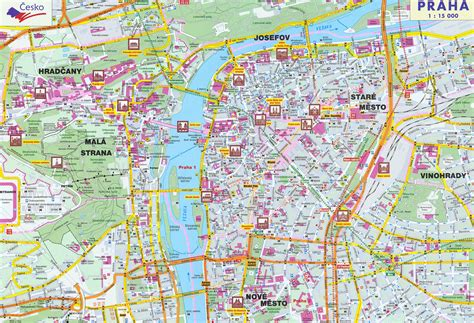 prague map maps of prague detailed map of prague in maps