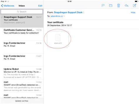 install smime email encryption certificate  apple ios