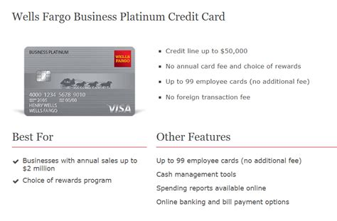 Business Platinum Credit Card Wells Fargo Image Collections Card Design And Card Template Fargo Business Check Template