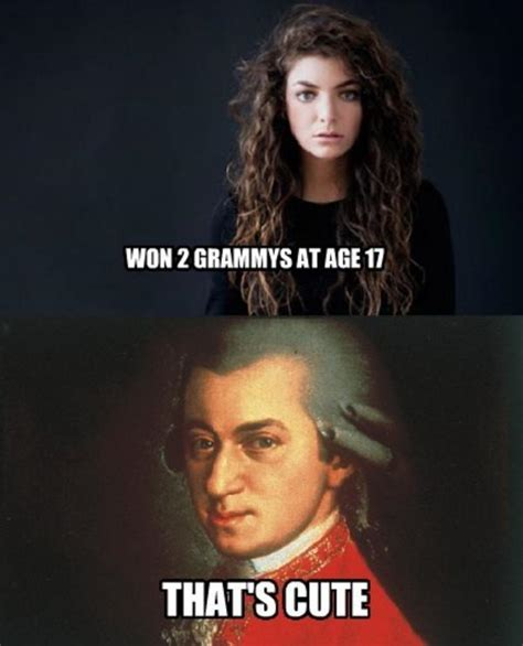 Lorde Meme - lorde vs mozart that s cute know your meme