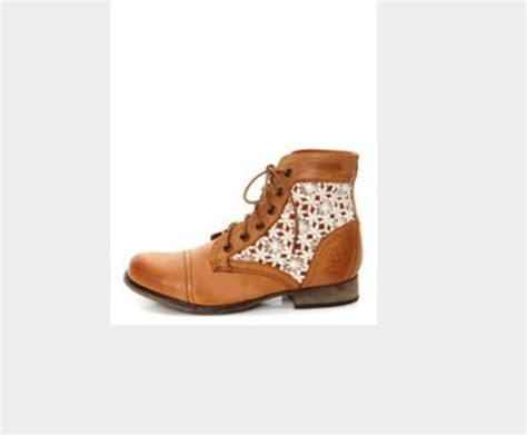 shoes brown lace combat boots wheretoget