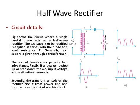 define transformer diode half wave rectifier wave rectifier mathematical exles ppt