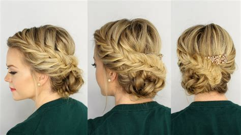 hairstyles updo youtube updo braided hairstyles fishtail braided updo youtube