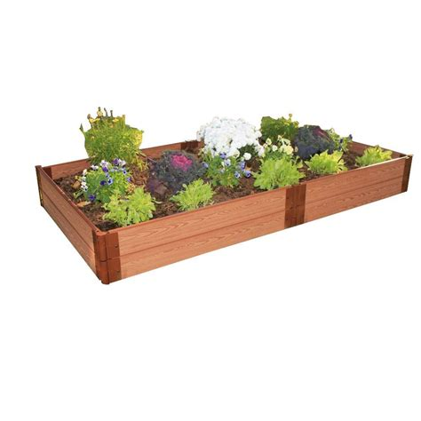 Frame It All Raised Garden Bed Kit Frame It All One Inch Series 4 Ft X 8 Ft X 11 In Composite Raised Garden Bed Kit 300001064