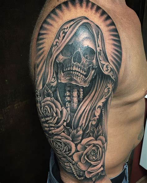 santa muerte tattoo the world s best photos of muerte and flickr hive