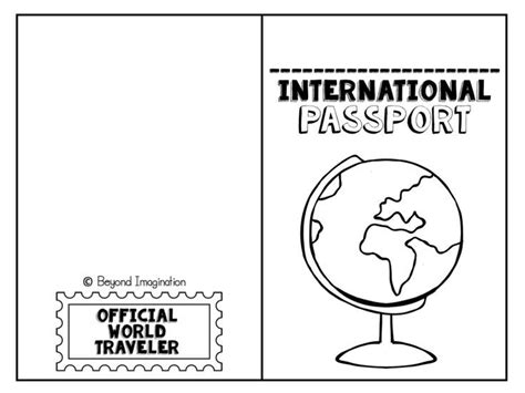 Free International Passport For Kids To Use And Play With Children Love This Printable Passport Preschool Passport Template
