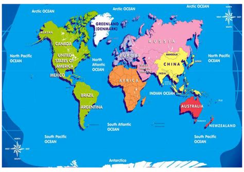 map world ks1 continents and oceans geography ks1 2 world maps earth by