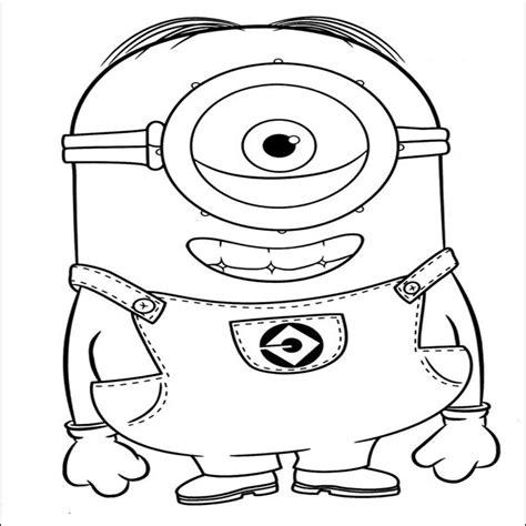 dibujos para colorear de los minions carl minions personaje de mi villano favorito para