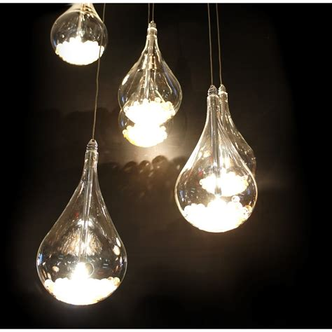 arrow 6 light tear drop shaped ceiling pendant light in