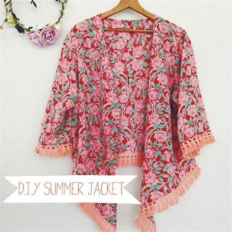 kimono pattern diy diy summer jacket kimonos summer and fringes