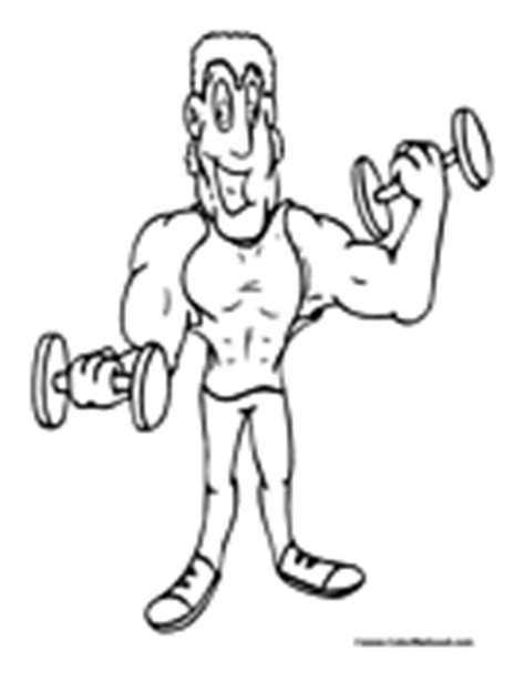 weight lifting animal coloring pages