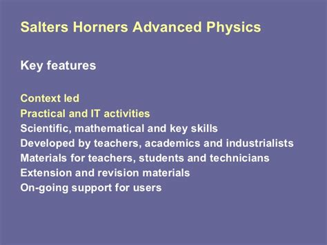Salters Horners Advanced Physics As 9 40 o13 3 k and e swinbank