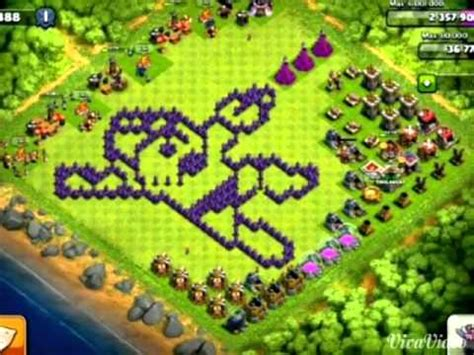 clash of clans layout editor red tree clash of clans layouts criativos bizarros youtube