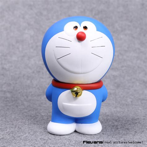Doraemon Brush Set 7 In 1 doraemon stand by me smileing doraemon pvc figure collectible model gifts 7 quot 18cm