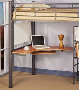 Metal Loft Bed With Desk by Siver Metal Contemporary Loft Bed W Desk Bookcase