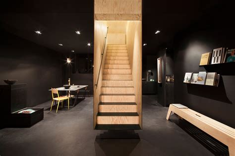 home design stores in berlin a floating staircase defines interior of bazar noir by
