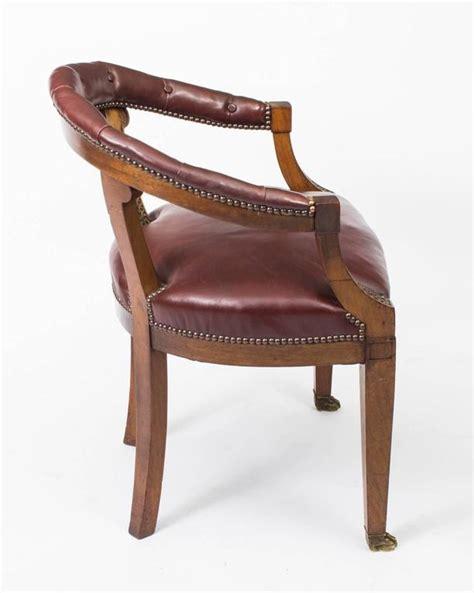 vintage second chairs antique second empire mahogany tub arm desk chair circa